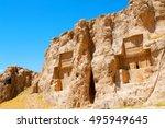 blur in iran near persepolis... | Shutterstock . vector #495949645