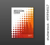 brochure cover design template... | Shutterstock .eps vector #495954517