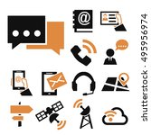 contact  commerce icon set | Shutterstock .eps vector #495956974