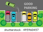 good parking. car parked in... | Shutterstock .eps vector #495960457