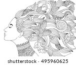vector hand drawn illustration... | Shutterstock .eps vector #495960625