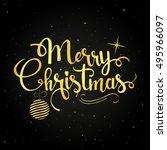 merry christmas golden... | Shutterstock .eps vector #495966097