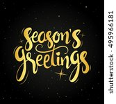 seasons greetings golden... | Shutterstock .eps vector #495966181