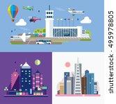 modern flat design conceptual... | Shutterstock .eps vector #495978805