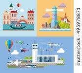 modern flat design conceptual...   Shutterstock .eps vector #495978871