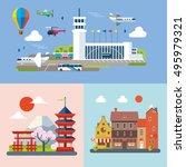 modern flat design conceptual... | Shutterstock .eps vector #495979321