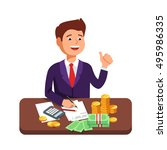 design concept to count money.... | Shutterstock .eps vector #495986335