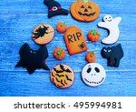 sweets on halloween | Shutterstock . vector #495994981