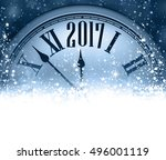 2017 new year blue background... | Shutterstock .eps vector #496001119