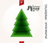 abstract christmas tree made... | Shutterstock .eps vector #496004761