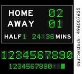 score board with green square... | Shutterstock .eps vector #496007635