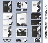 mock up vector set. | Shutterstock .eps vector #496007677