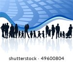 family and abstract vector | Shutterstock .eps vector #49600804