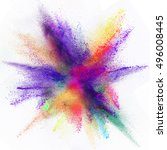 launched colorful powder ... | Shutterstock . vector #496008445