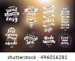 inspirational quotes set.... | Shutterstock .eps vector #496016281