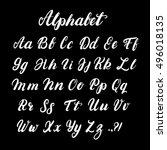hand written lowercase and... | Shutterstock .eps vector #496018135
