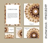 set of business cards. template ...   Shutterstock .eps vector #496018249