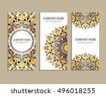 set of business cards. template ...   Shutterstock .eps vector #496018255
