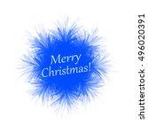 fluffy blue snowflake on white... | Shutterstock .eps vector #496020391
