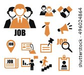 job search icon set | Shutterstock .eps vector #496024864