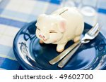 Eat up Savings, savings consumer concept - stock photo