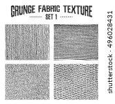 grunge fabric textures set 1.... | Shutterstock .eps vector #496028431