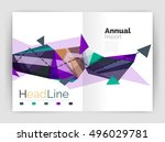 unusual abstract corporate... | Shutterstock .eps vector #496029781