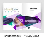 unusual abstract corporate... | Shutterstock .eps vector #496029865