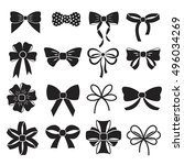 holiday gift christmas bows... | Shutterstock .eps vector #496034269