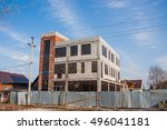 construction of new shopping... | Shutterstock . vector #496041181