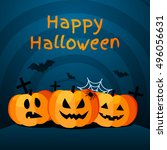 halloween background with... | Shutterstock .eps vector #496056631