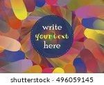 circled element for design.... | Shutterstock .eps vector #496059145
