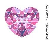 purple diamond. diamond icon.... | Shutterstock .eps vector #496065799