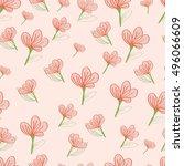 seamless floral pattern. vector ... | Shutterstock .eps vector #496066609
