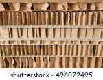 Small photo of Honeycomb cardboard. Reboard packaging. Recyclable craft paper.