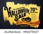 halloween sale. vector... | Shutterstock .eps vector #496075027