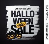 halloween sale. vector... | Shutterstock .eps vector #496075141