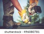 small residential remodeling... | Shutterstock . vector #496080781
