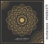 mandala decorative ornament... | Shutterstock .eps vector #496081375