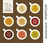 tea varieties and brewing...   Shutterstock .eps vector #496093165
