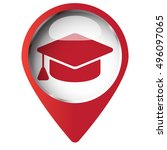 Map Pin Symbol With Graduation...