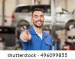 car service  repair ... | Shutterstock . vector #496099855