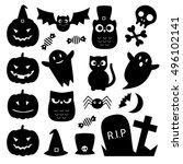 Halloween Black Cute Icons....