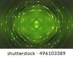 abstract fractal green... | Shutterstock . vector #496103389