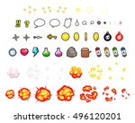 miscellaneous items game... | Shutterstock .eps vector #496120201
