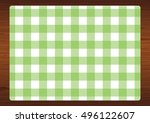 green   white gingham check... | Shutterstock .eps vector #496122607