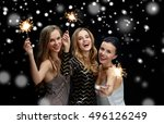 new year party  christmas ... | Shutterstock . vector #496126249
