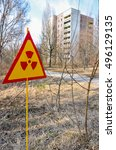 an abandoned city of pripyat ... | Shutterstock . vector #496129135