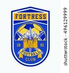 fortress football club.... | Shutterstock .eps vector #496129999