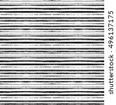 hand drawn striped seamless... | Shutterstock .eps vector #496137175